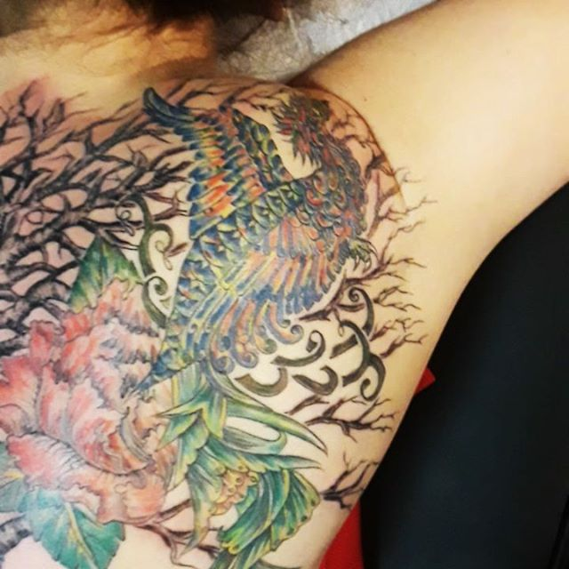 One more section to this awesome back tattoo art!!