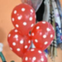 Гелиевые шары с горошком