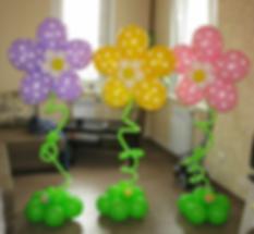 Композиция цветы гиганты из воздушных шаров