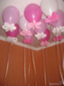 Гелиевые шары с цветочком