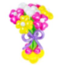 Стойка с цветами из воздушных шариков
