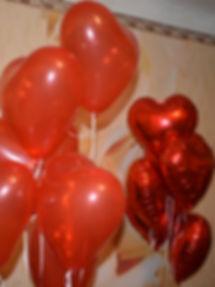 Гелиевые шары сердца