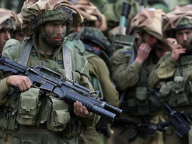 Soldiers near Gaza