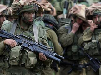 Soldiers near Gaza