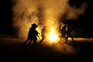 In the photo soldiers from the IDF combat engineering unit while training at night