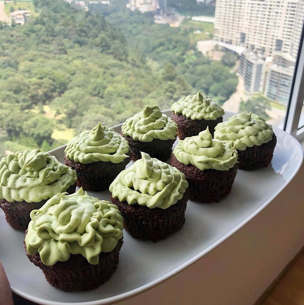 cupcakes matcha