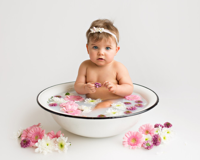 Baby i melkebad