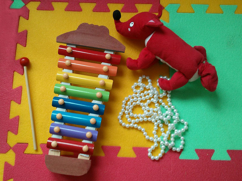 Xylophone and toy