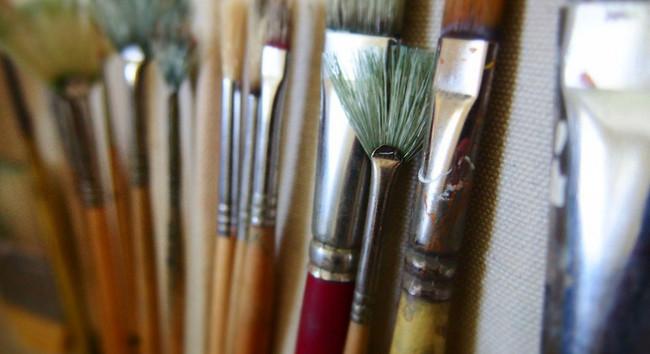 Row of paintbrushes