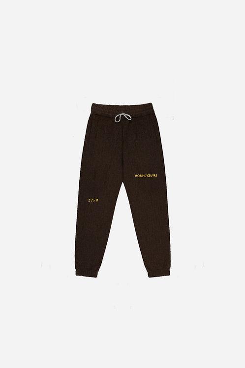 Corduroy Sweatpants - Brown