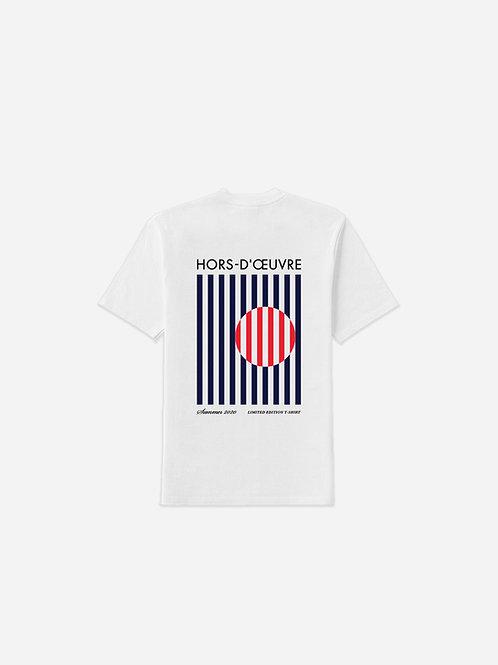 Summer 2020 Stripes Graphic Tee - White