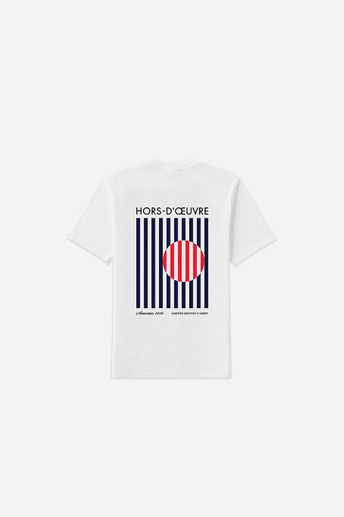 Summer 2020 Stripes Graphic Tee - White