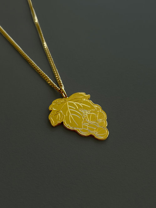 Ball Grape Necklace - 18k Plated Gold
