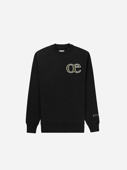 L'E dans l'O Crewneck - Black
