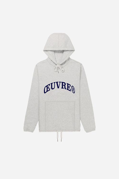 Oeuvrer College Hoodie - Grey Melange