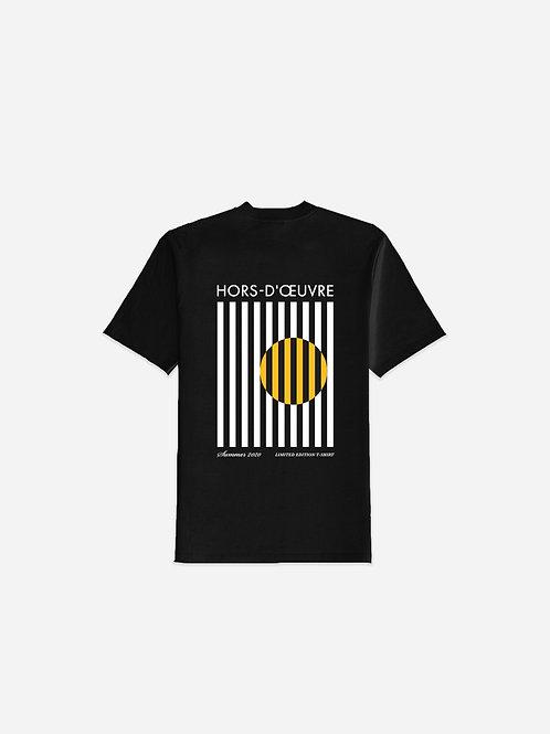 Summer 2020 Stripes Graphic Tee - Black
