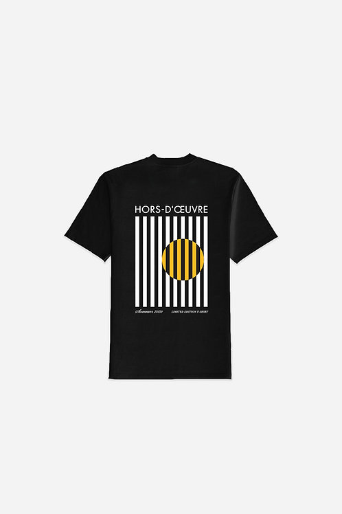 Summer 2020 Stripes Graphic Tee - Black