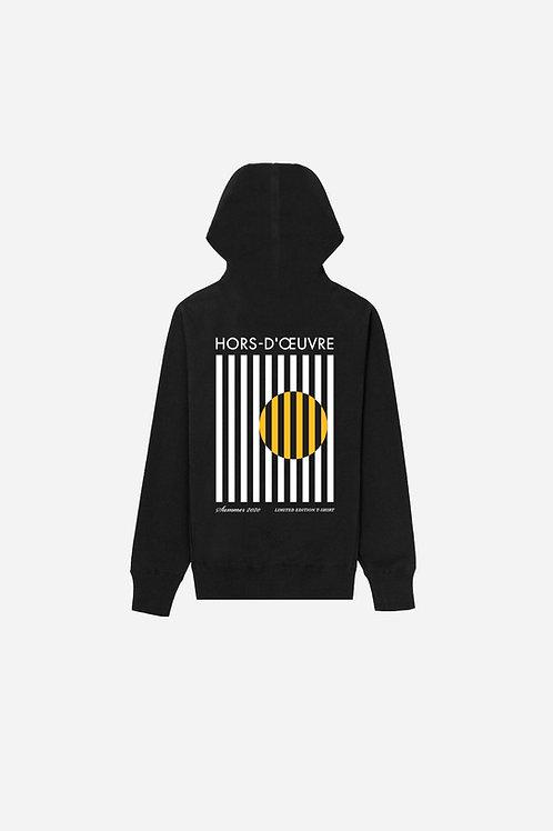 Summer 2020 Stripes Graphic Hoodie - Black