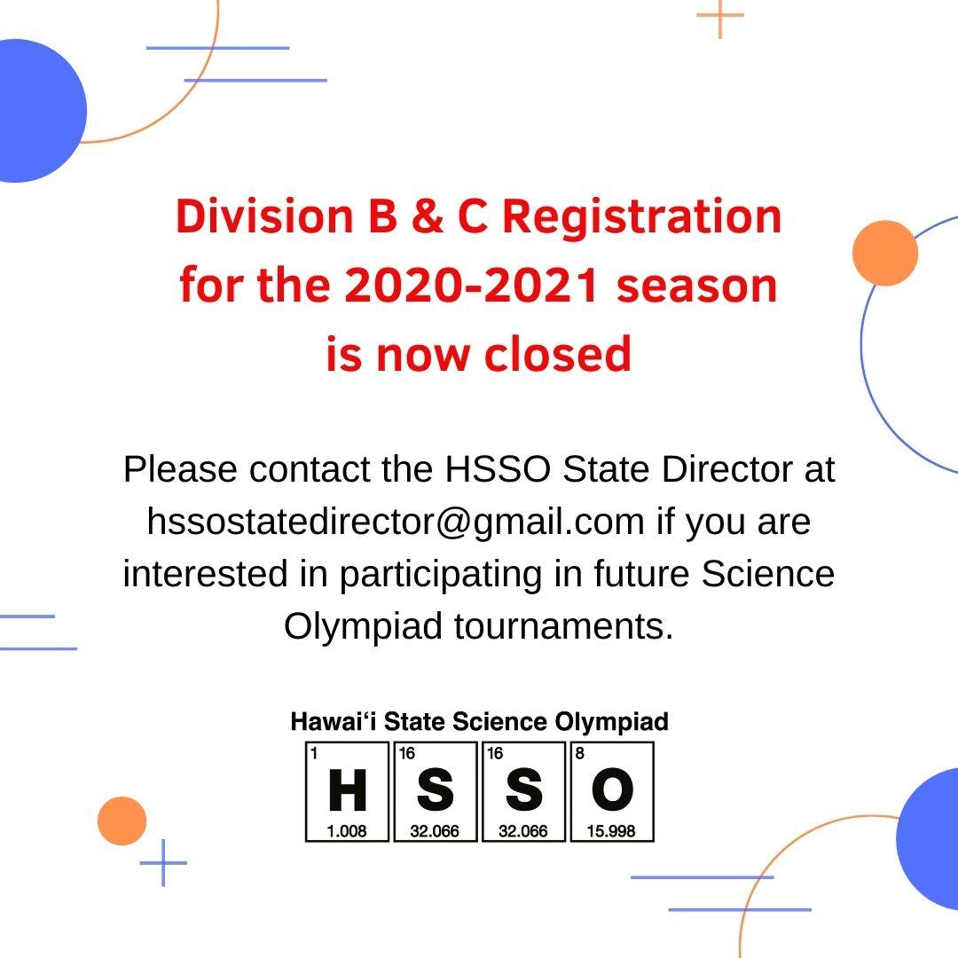 Registration for Divisions B & C is Clos