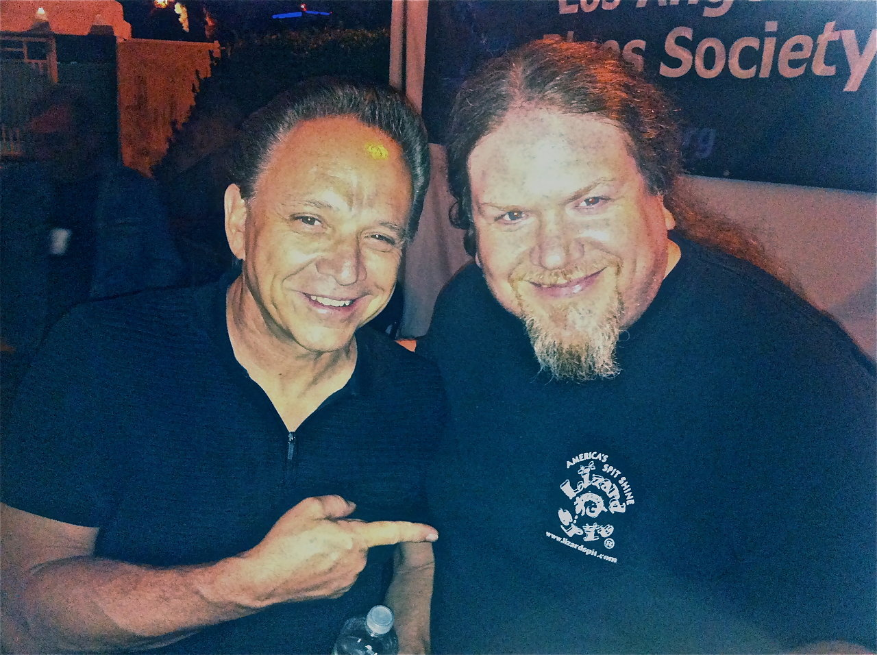 Ben with Jimmie Vaughan