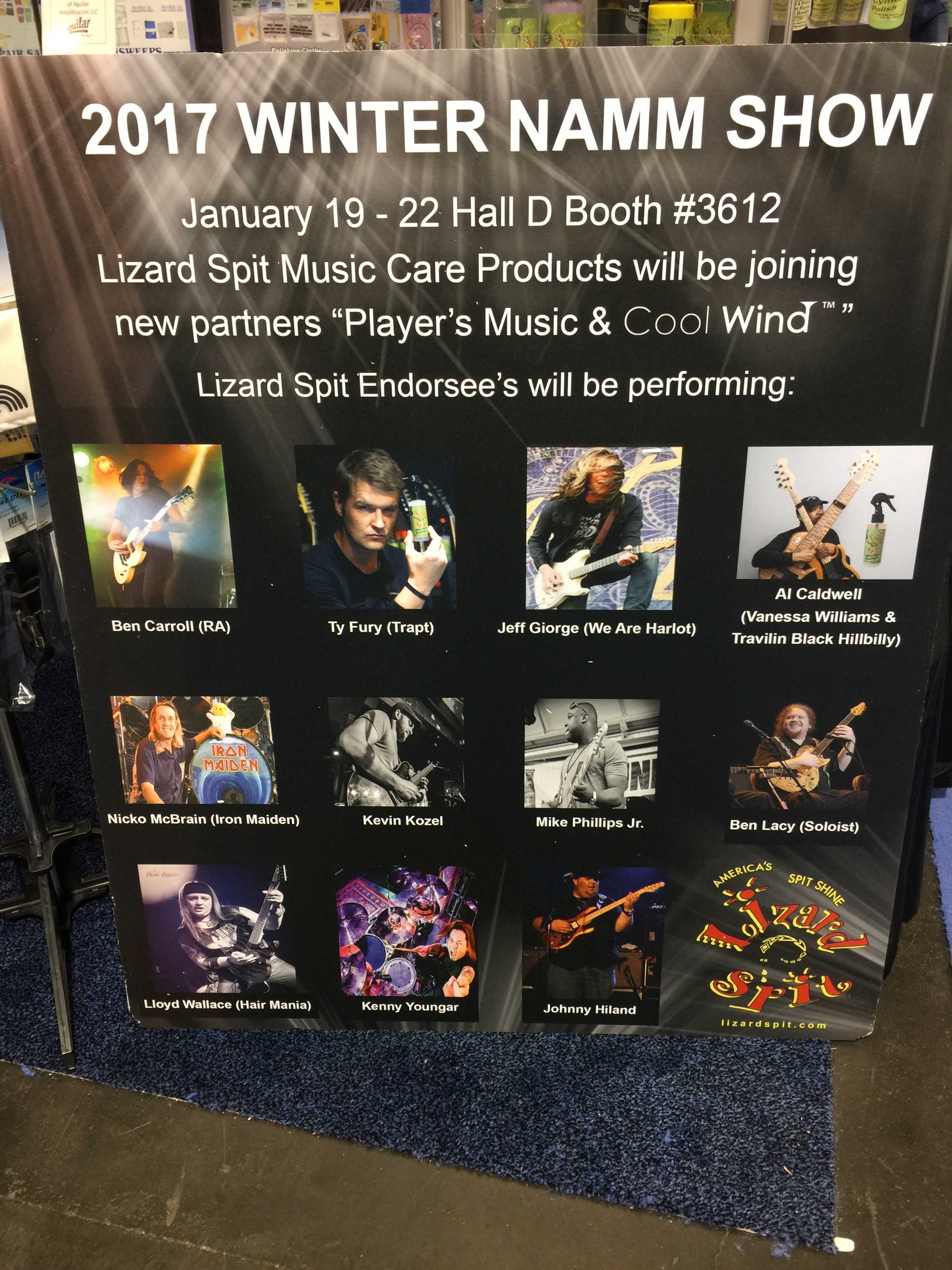 Lizard Spit booth NAMM '17
