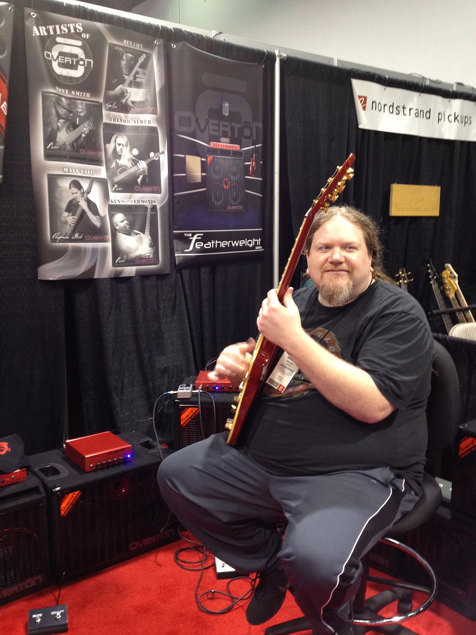 Ben at the Overton Booth