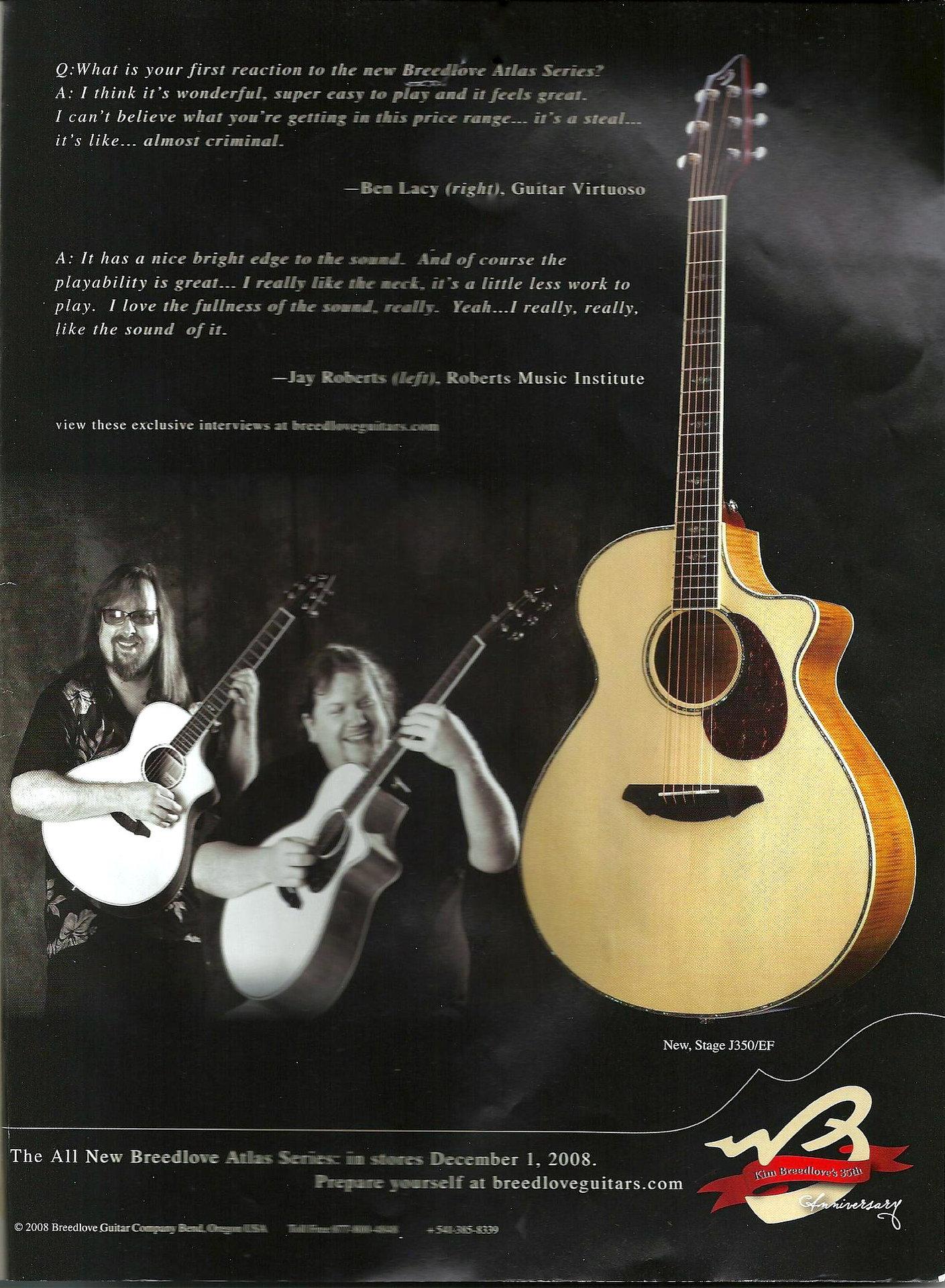 Breedlove Guitar Advertisement