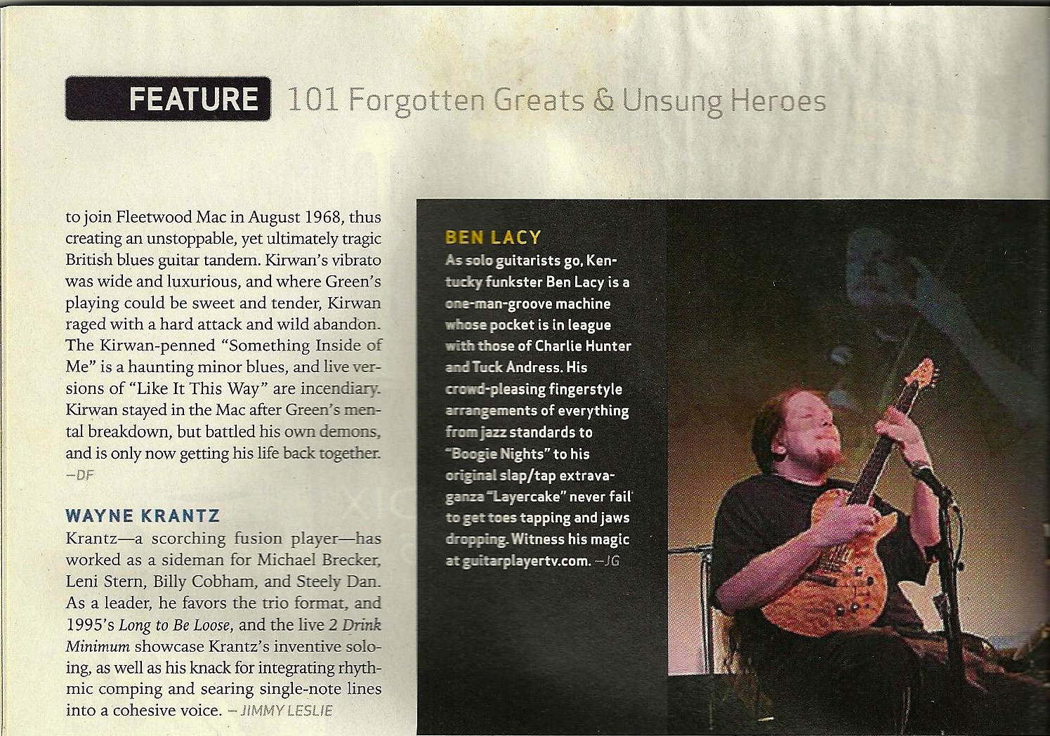 Guitar Player Magazine Feb. 2007