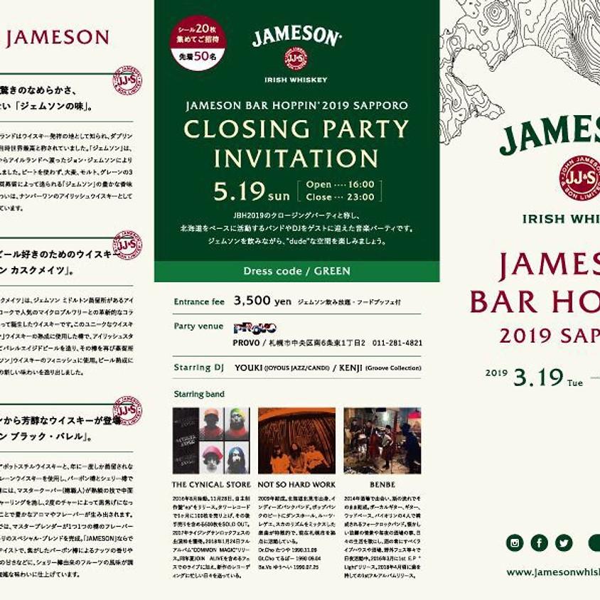 JAMSON BAR HOPPIN' 2019 SAPPORO CLOSING PARTY