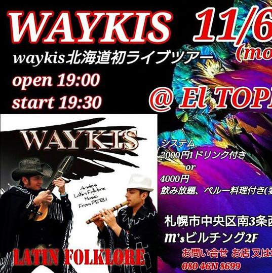 2017/11/6 WAYKIS北海道発ライブツアー
