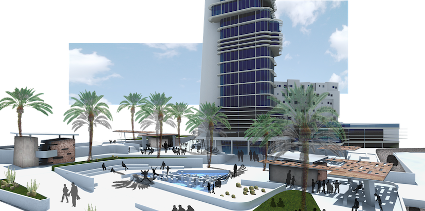 Arquitecto Telde. Plaza y torre Disa