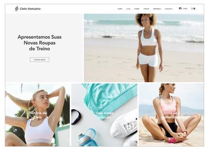 Template para loja virtual de roupas de esporte