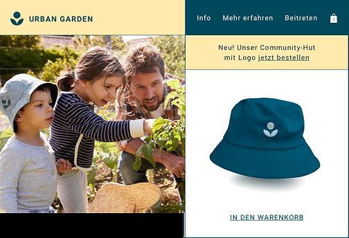 Hut für Gärtner verkauft per Print on Demand