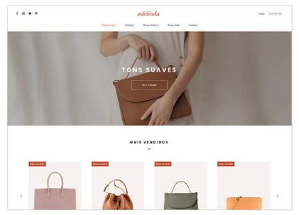 Template para loja virtual de acessórios femininos