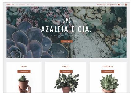 Template para loja virtual de plantas