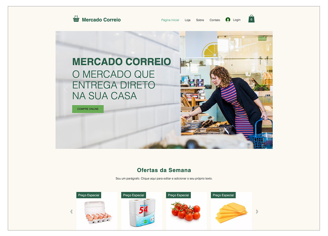 Template para loja virtual de doces