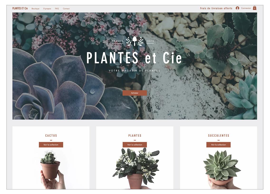Template de magasin de plantes