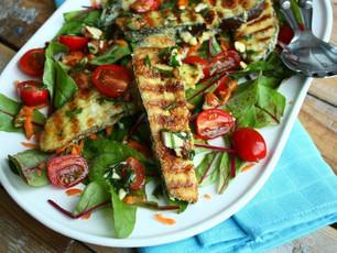 Salade met gebakken aubergine