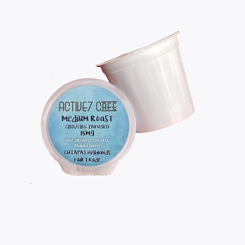 Pack of 4 Organic Medium Roast KCup single serve Pod 15mg