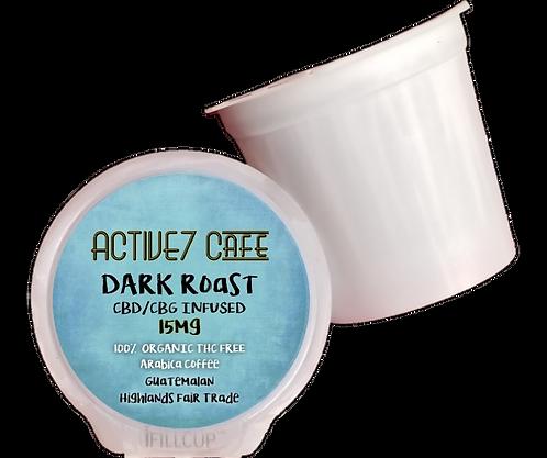Organic Dark Roast kcup single serve pod 15mg CBD/CBG
