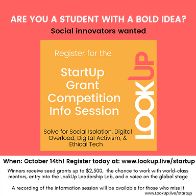 LookUp Issus Call for Proposal for StartUp Competition