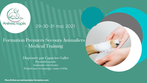 Formation Premiers Secours Animaliers + Medical Training - 29-30-31 mai 2021