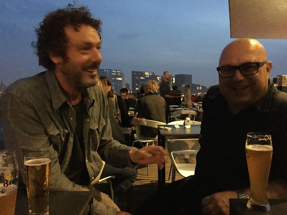 Jeroen van den Berk en Marco Nauta genieten na van het bezoek.