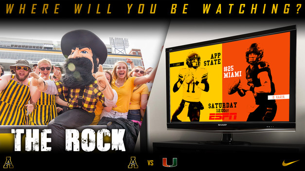 App vs Miami Where will you be watching.