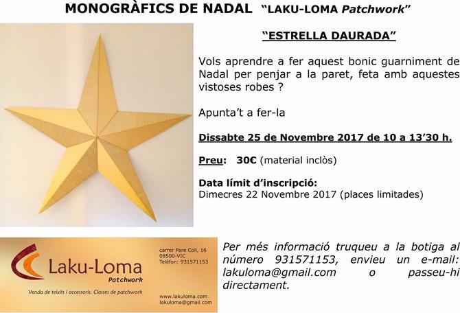 El monogràfic de Nadal de la propera setmana a LAKU-LOMA Patchwork! #patchwork,#LAKU-LOMA Patchwork,