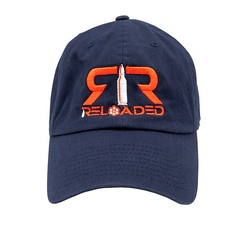 """DAD HAT """"NAVY/ RED AND WHITE LOGO"""""""