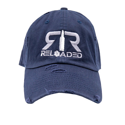 """DAD HAT """"NAVY / GREY AND WHITE LOGO"""""""