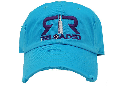 """DAD HAT """"TURQUOISE/ PURPLE AND WHITE LOGO"""""""