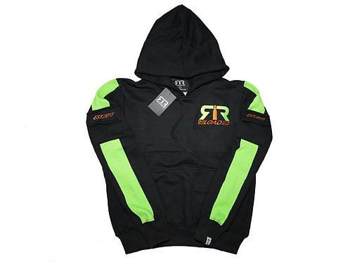 BLACK & LIME RELOADED PULLOVER HOODIE