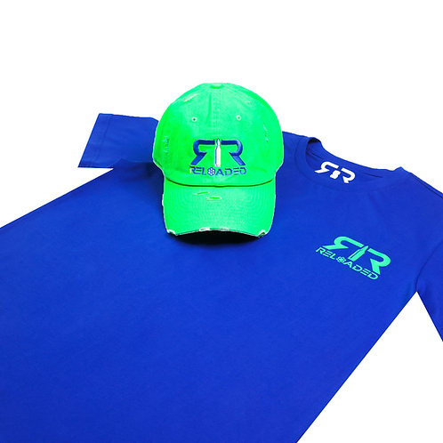 """HAT AND SHIRT COMBO """"RUSSLE WILSON"""" COLOR WAVE"""